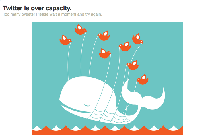 No wonder Twitter keeps breaking . . .. poor little birdies.