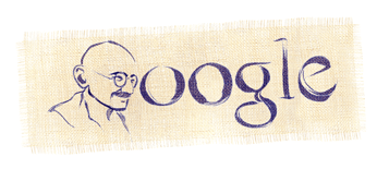 Gandhi's birthday - of course.