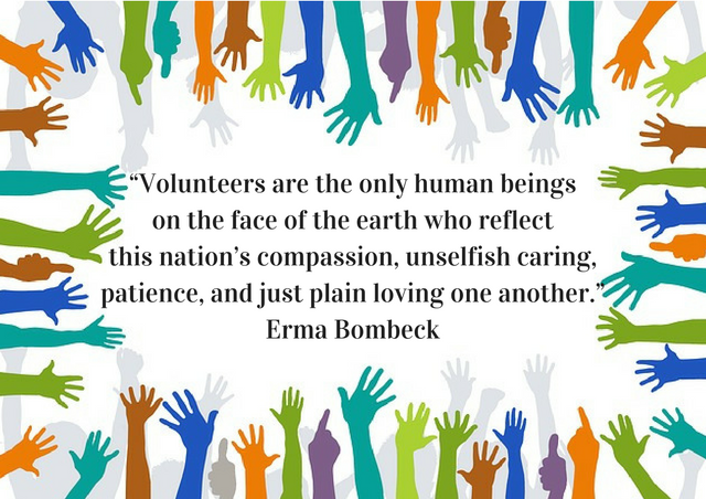 Erma Bombeck quote on volunteers
