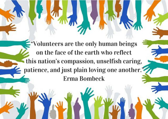 Erma Bombeck quote on volunteers